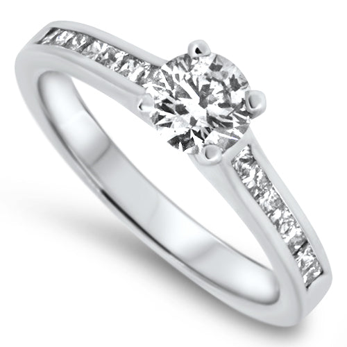 1.00ct Diamond Engagement Style Ring in 18k White Gold
