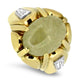 18k Yellow Gold & Platinum Jade & Diamond Ring