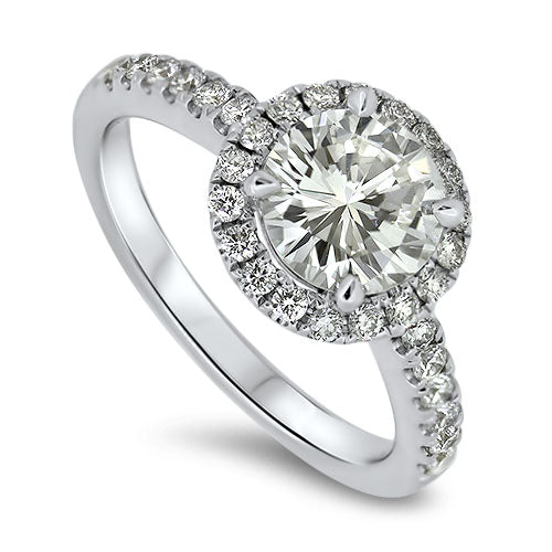 2.01ct Halo Set Diamond Ring with a 1.50ct centre diamond