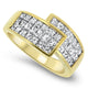 1.50ct Princess Cut Diamond Cluster Ring in 18k Yellow Gold