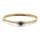 1.07ct Diamond & Natural Ruby Bangle set in 18ct yellow gold