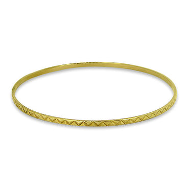 9ct Gold Patterned Bangle
