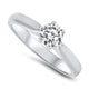 0.50ct Diamond Solitaire Engagement Ring in 18k White Gold