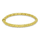 22ct Gold Heavy Solid Patterned Hinged Oval Bangle
