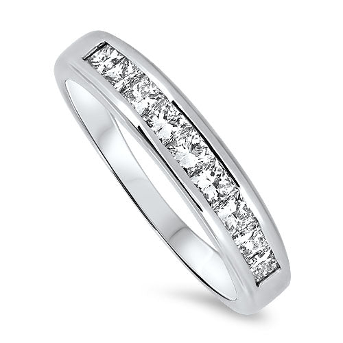 18ct White Gold 9 Stone Diamond Ring