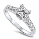1.34ct Diamond Ring Set in 18ct White Gold with an E Colour 0.85ct Centre Diamond