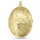 9ct Yellow Gold Antique Oval Shaped Patterned Locket