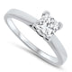 0.70ct Princess Cut Diamond Solitaire Engagement Ring set in Platinum