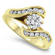 1.00ct Diamond Engagement Ring in 18k Yellow Gold