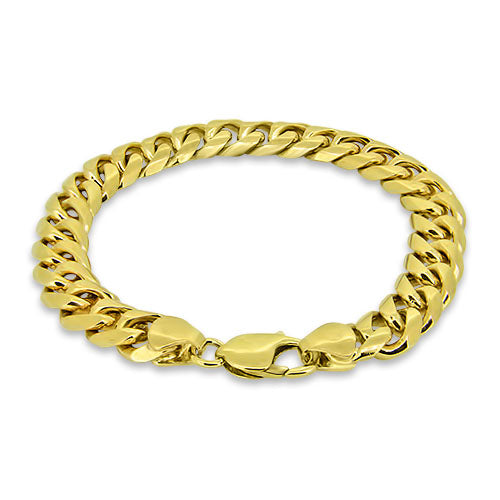 9ct Yellow Gold Curb Link Bracelet
