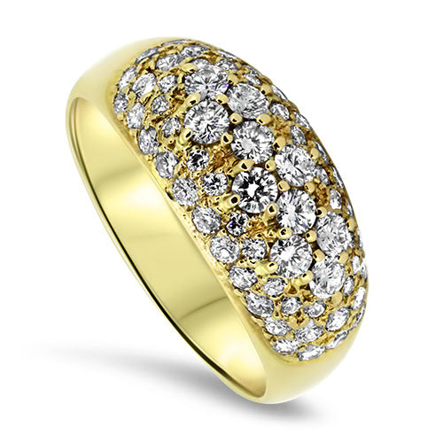 1.70ct Diamond Cluster Ring in 18k Yellow Gold