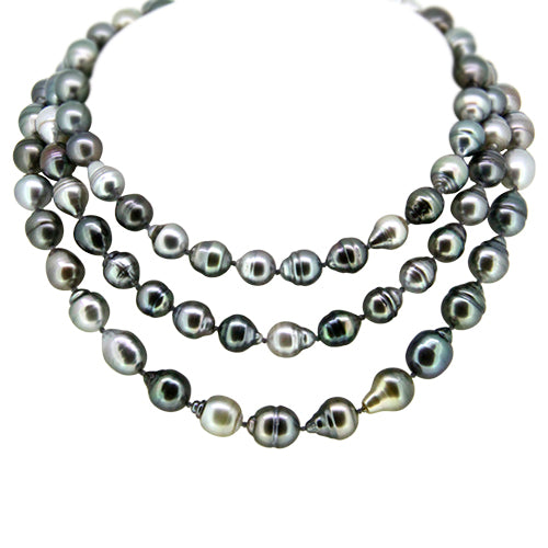 South Sea Tahitian Pearl Necklace with an 18k Gold Clasp