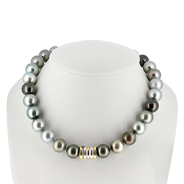 Tahitian South Sea Pearl Necklace with a 14k Gold Clasp