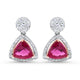 7.13ct Tourmaline & Diamond Drop Handmade Earrings in 18k Rose and White Gold