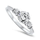 0.68ct Diamond Engagement Style Handmade Ring in 18k White Gold