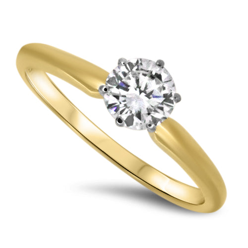 0.58ct Diamond Engagement Style Ring F VS2 in 18k Yellow Gold