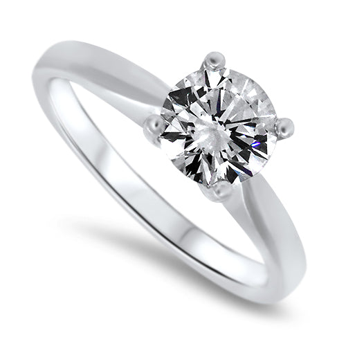 1.15ct Diamond Solitaire Engagement Ring in 18k White Gold E Colour GIA Certified