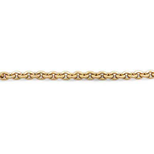 9ct Gold Solid Bracelet with a Unique Link and Bolt Clasp