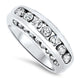 1.24ct Round Diamond Cluster Band set in 18k White Gold