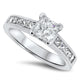 1.61ct Princess Cut Diamond Engagement Style Ring with a F VS2 GIA Diamond in 18k White Gold Handmade Ring