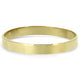 9k Yellow Gold Solid Bangle with Flat Edge