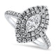 1.24ct Marquise Diamond Halo Setting Engagement Style Ring in 14k White Gold