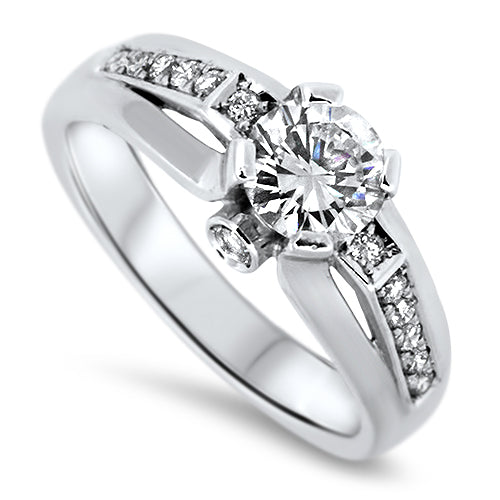 0.82ct Unique Diamond Engagement Style ring in 18k White Gold