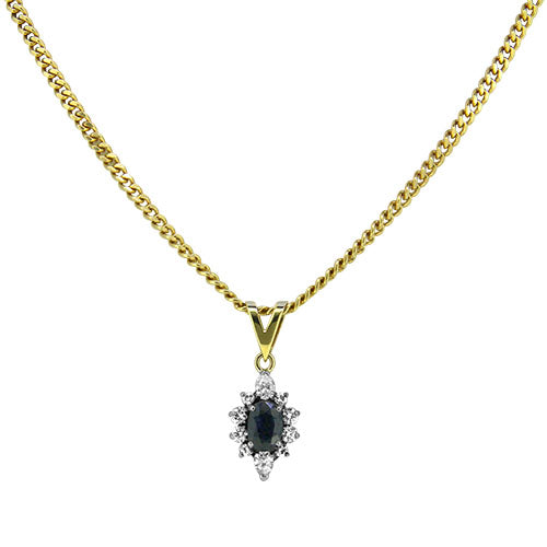 18ct Gold Sapphire & Diamond Necklace