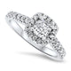 1.00ct Diamond Engagement Ring in a Halo Setting in 14k White Gold