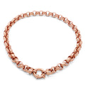 9ct Rose Gold Patterned Belcher Necklace