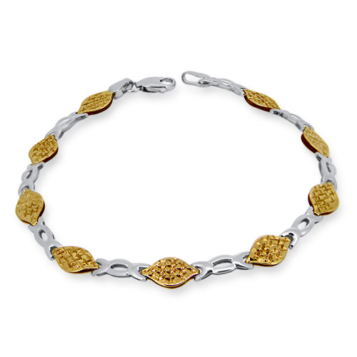9ct Yellow & White Gold Two Toned Bracelet