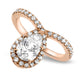 1.31ct Pear Shaped Diamond Ring in 18k Rose Gold