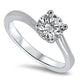 1.02ct Diamond Solitaire Ring E VS2 set in Platinum