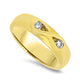 18k Yellow Gold Mens Handmade Diamond Ring