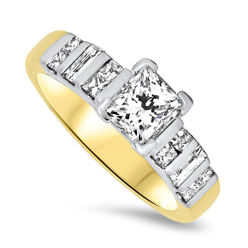 2.97ct Diamond Ring Set in 18k Gold