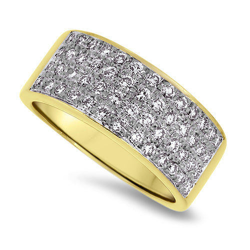 0.50ct Diamond Cluster Ring in 18k Yellow Gold
