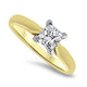 0.70ct Princess Cut Diamond Solitaire Ring  in 14k Yellow gold
