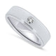 18k White Gold & Diamond Band Mens Ring