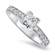 0.43ct Princess Cut Diamond Ring in 18k White Gold
