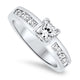 0.70ct Diamond Engagement Ring in 18k White Gold