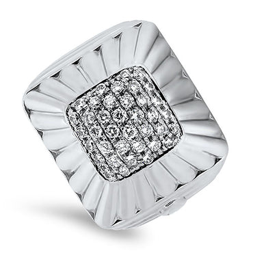 18ct White Gold 38 Stone Diamond Ring