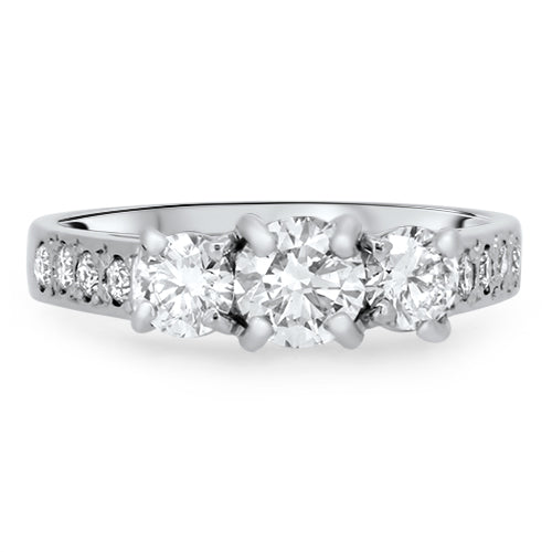 1.25cts Diamond Engagement Handmade Ring with a G VS2 Diamond