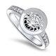 0.60ct Diamond Ring in 18k White Gold
