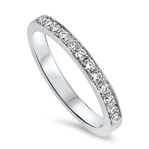 18ct White Gold 13 Stone Diamond Ring