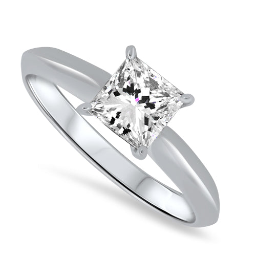 1.00ct Diamond Solitaire Ring in 18k White Gold
