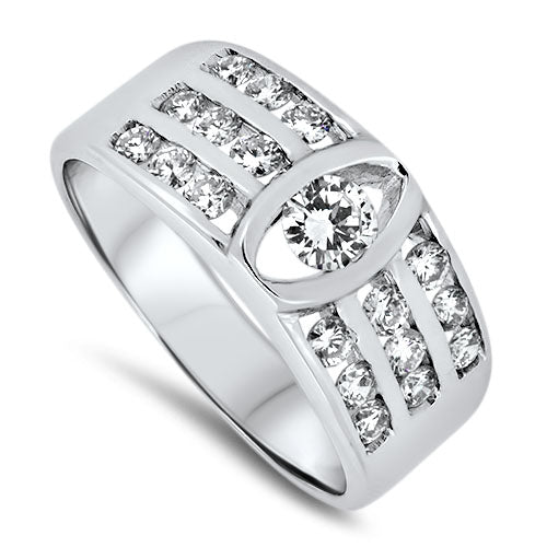 0.72ct Diamond Cluster Ring in 18k White Gold