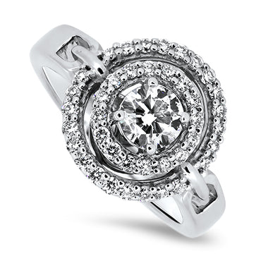 0.93ct Diamond Cluster Ring in 18k White Gold