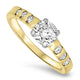 1.00ct Diamond Ring in 18k Yellow & White Gold