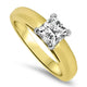 1.01ct Solitaire Princess Cut Diamond Engagement Ring in 18k Yellow Gold