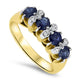 1.56ct Sapphire and Diamond Handmade Ring Set in 18k  Yellow Gold